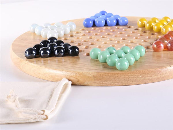 Wood Chinese Checkers Set w/Marbles - Chess Set - Chess-House