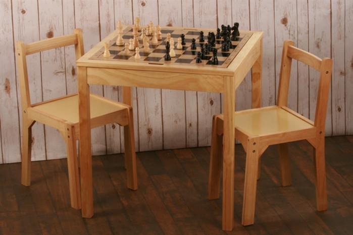 Genial Wooden Chair Set For Chess Table   Table   Chess House