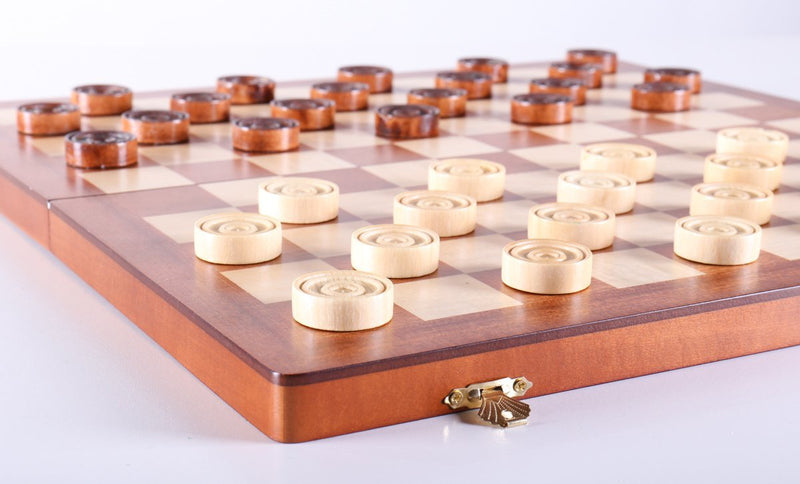 Wooden Checkers 100 squares, Smooth Surface
