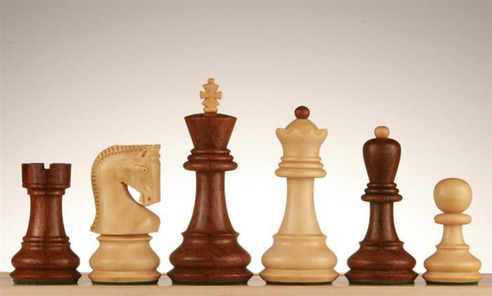 Zagreb Chess Pieces, 3 3/4