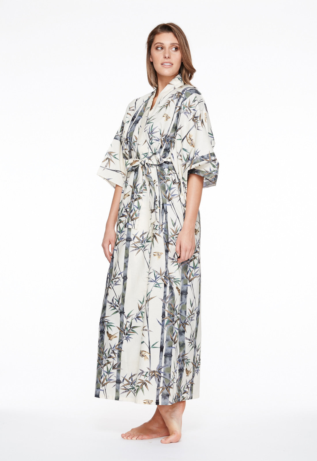 Exquisite Bamboo Womens Plus Size Cotton Kimono Robe - Beautiful ...
