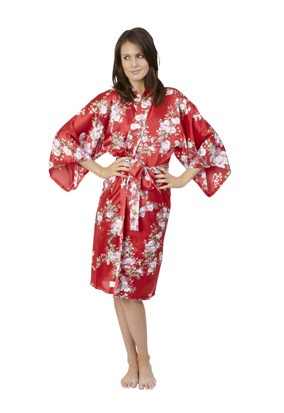 a9e1d684e3 Cherry Blossom In Spring Short Silk Kimono - Beautiful Robes