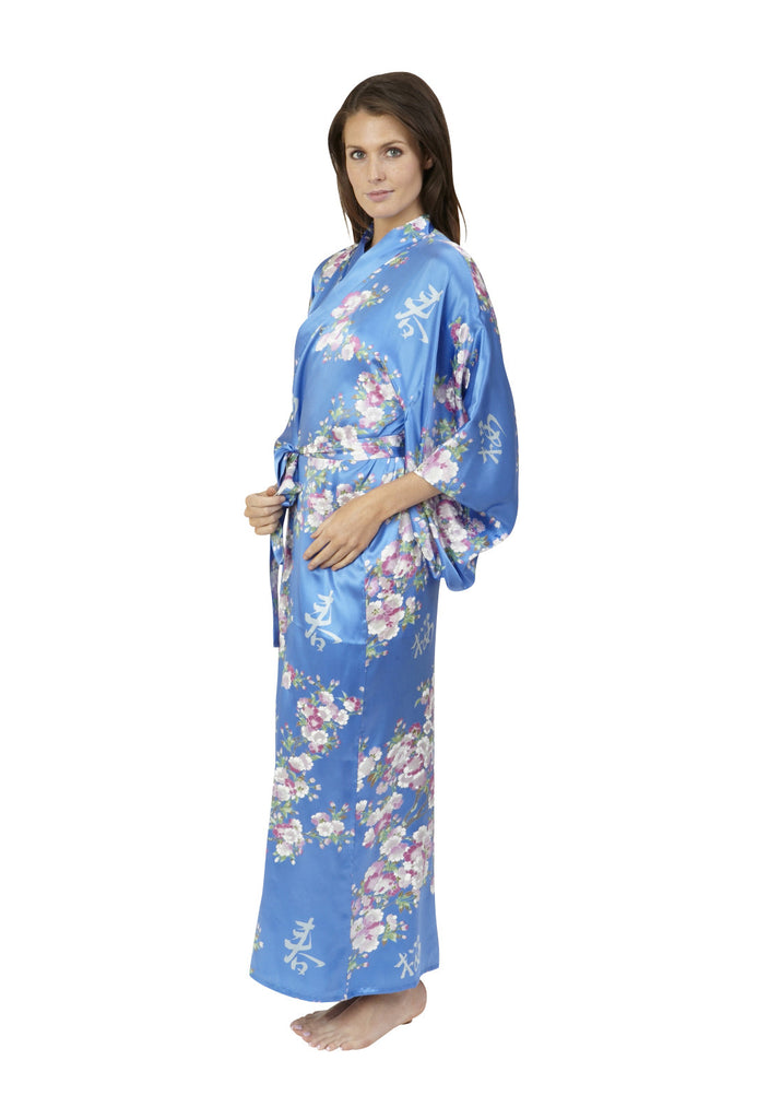 0acfba64a3 Cherry Blossom In Spring Long Silk Kimono - Beautiful Robes