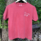 Youth Crimson Winding Hourglass Short Sleeve