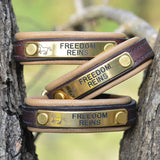 Freedom Reins Padded Leather Bracelet