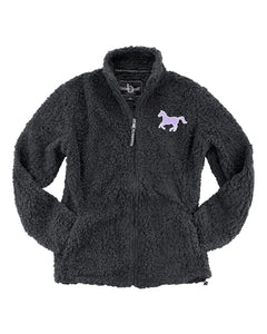 Freedom Reins Charcoal Sherpa Full Zip Jacket