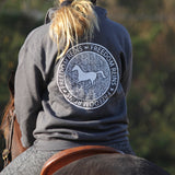 Tweed 1/4 Zip Stamp Sweatshirt
