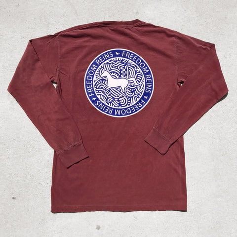 Pocketed Crimson Tribal FR Stamp Long Sleeve!