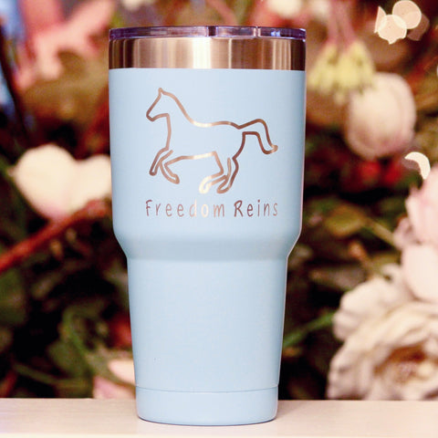 30 oz Light Blue FR Laser Engraved Cup