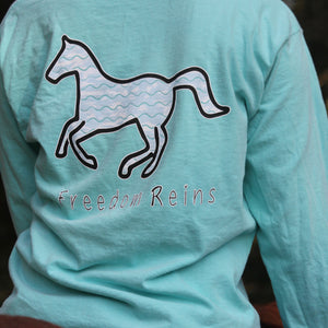 Chalky Mint Wave Long Sleeve
