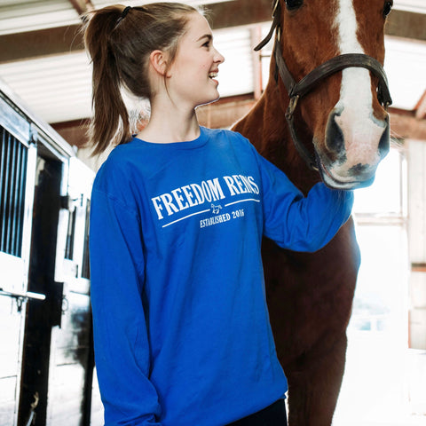 Neon Blue Freedom Reins Long Sleeve