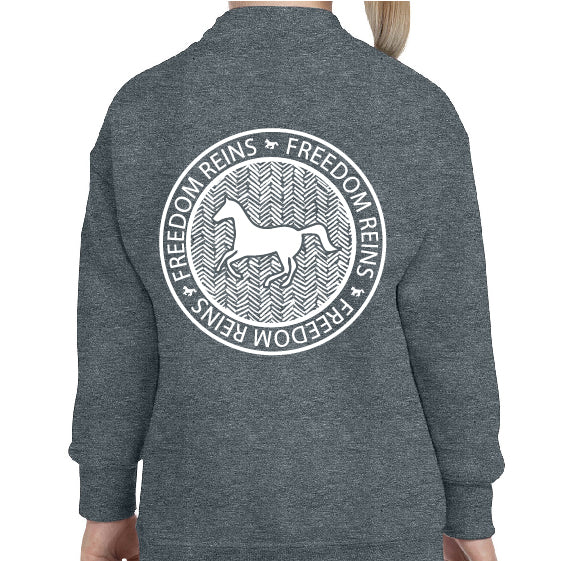 Youth Dark Gray FR Stamp Sweatshirt