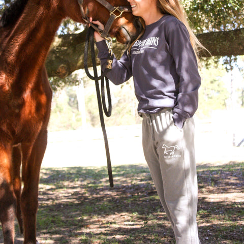 Light Grey Freedom Reins Jogger Sweatpants