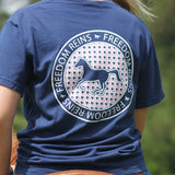 Navy Houndstooth FR Stamp Short Sleeve!