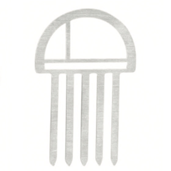 hair comb - small - round