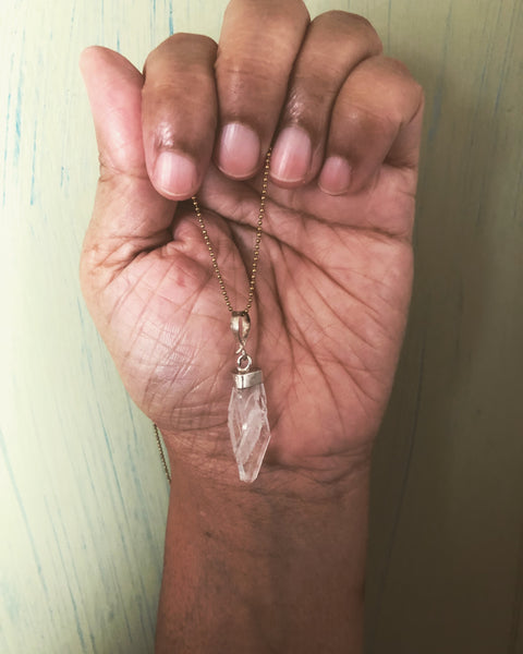 Clear quartz choker