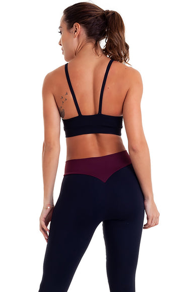 Black Strappy Sports Bra-IpanemaGirl