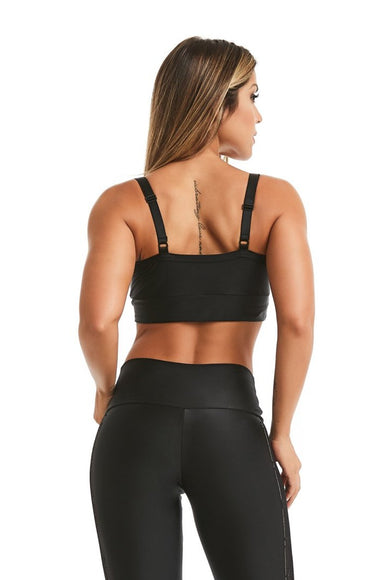 Black Encourage Sports Bra