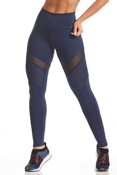 Navy Strong Mesh Leggings