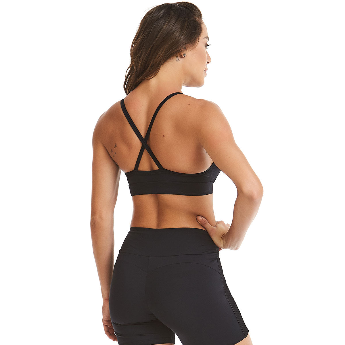 Black Handwork Sports Bra