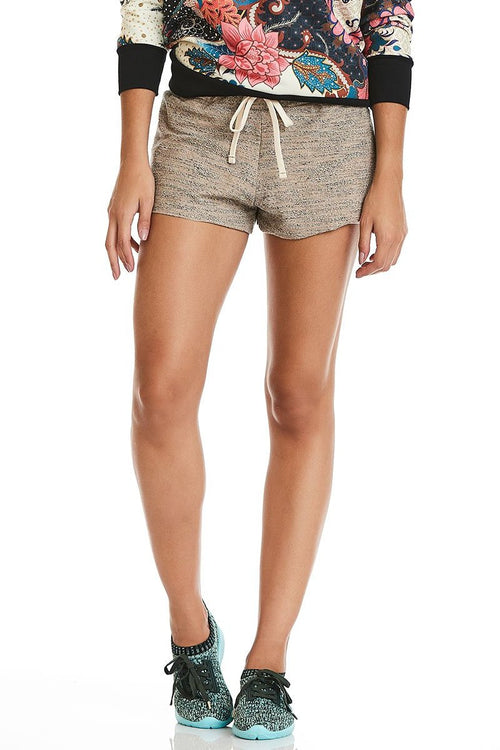 Beige Relaxed Shorts