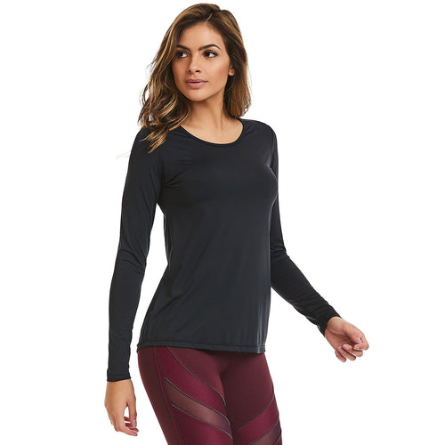 Black Long Sleeve Running Blouse