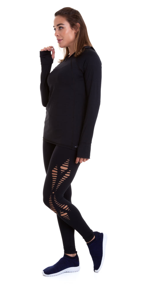 Black Emana Lasercut Leggings