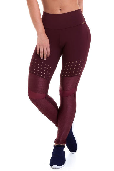 Burgundy Mystic Leggings-IpanemaGirl