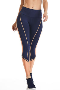 Navy Gold Leggings-IpanemaGirl