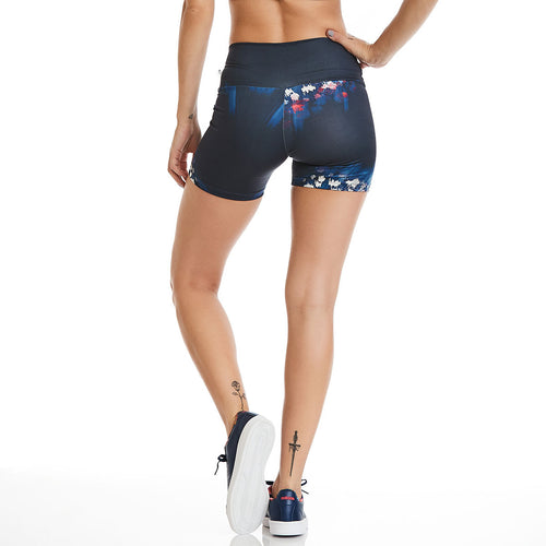 Navy Flower Shorts