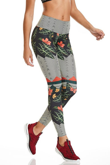 Flawless Flowers Leggings-IpanemaGirl
