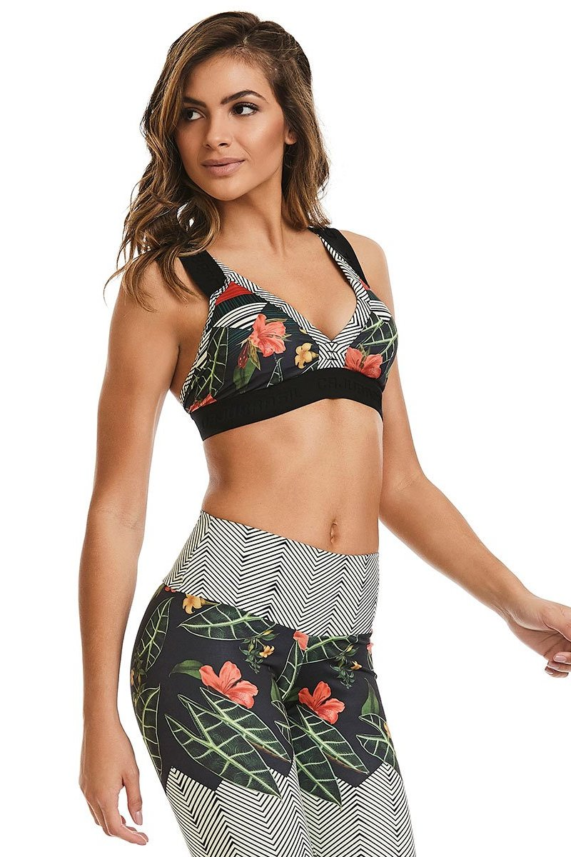 Flawless Flowers Sports Bra-IpanemaGirl