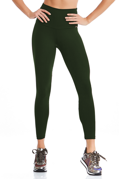 Khaki Green High Waist Leggings