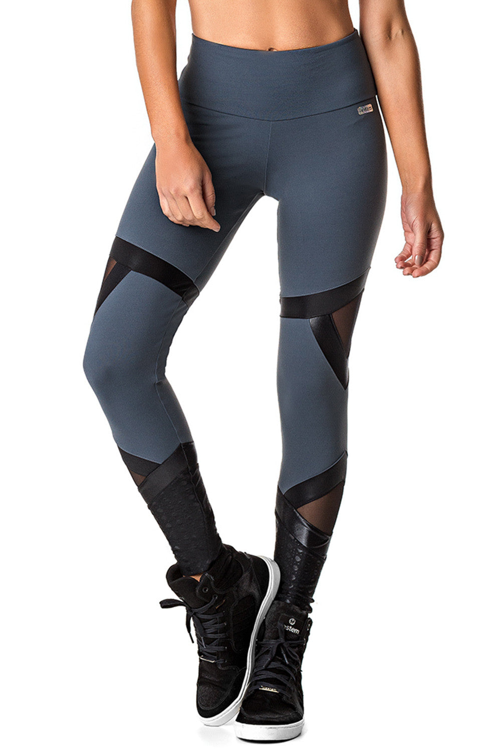 Grey Meshed Leggings-IpanemaGirl