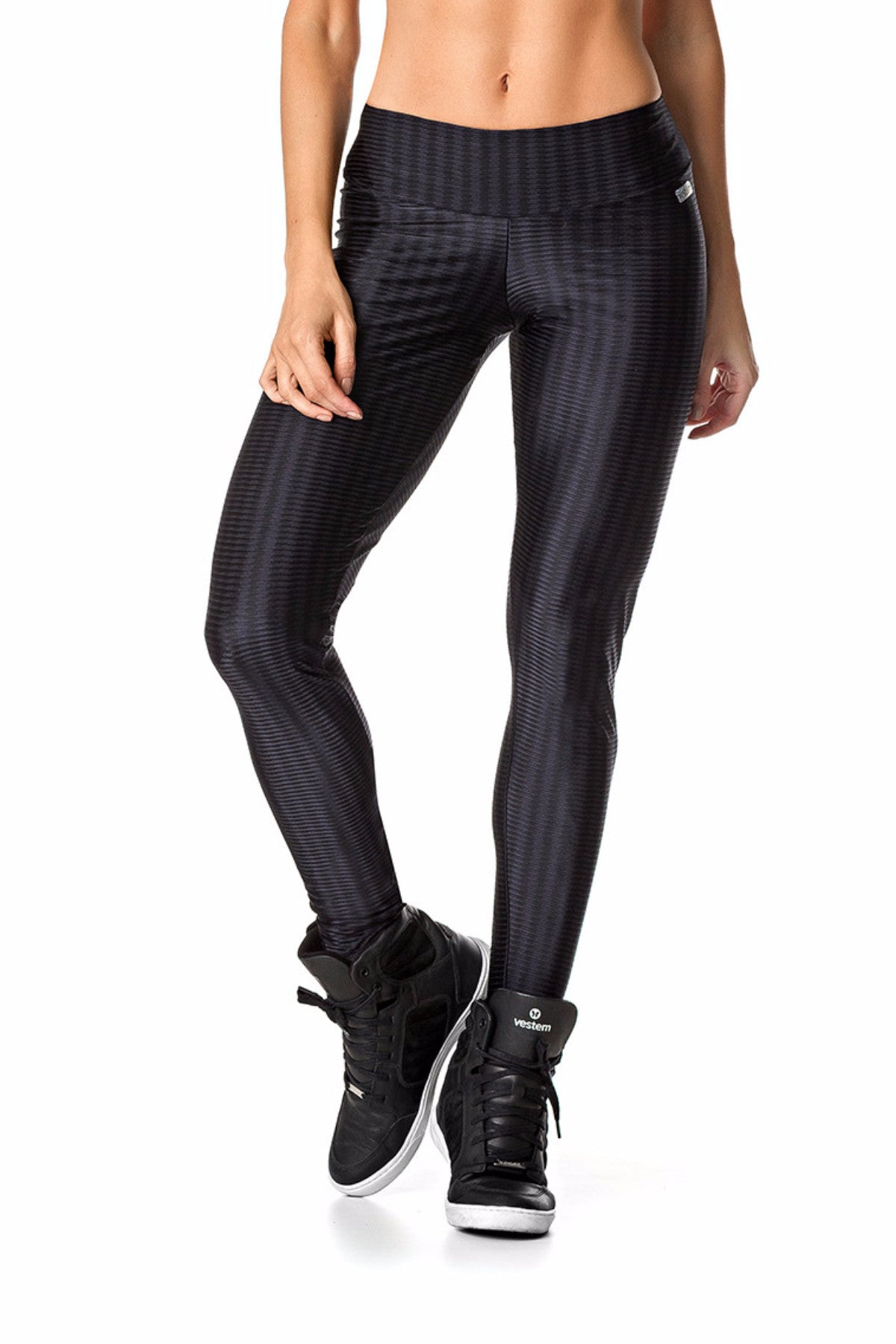 Black Shiny Compressive Leggings