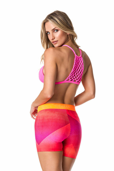 Pink Netted Back Sports Bra-IpanemaGirl