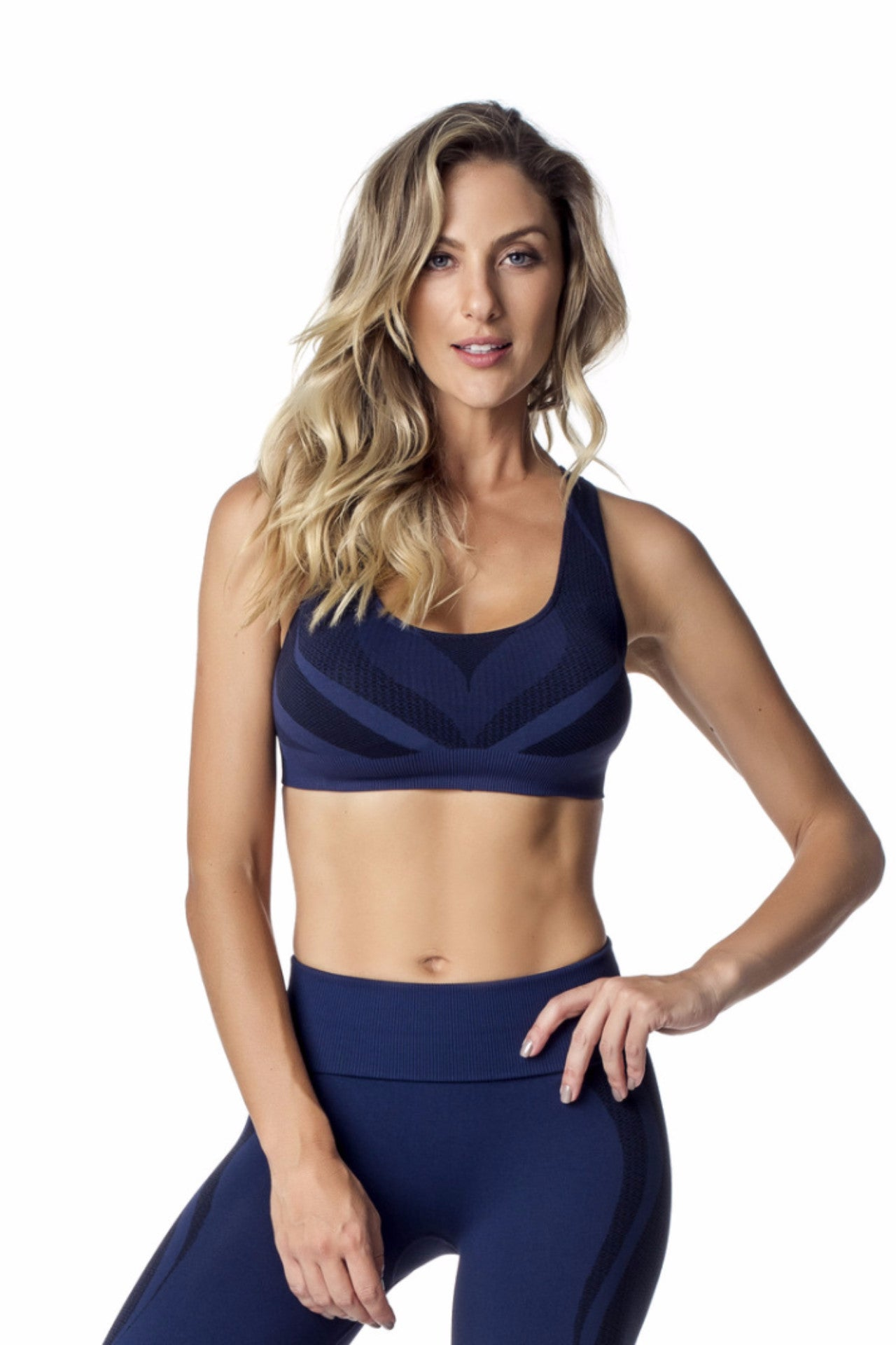 Navy Seamless Sports Bra