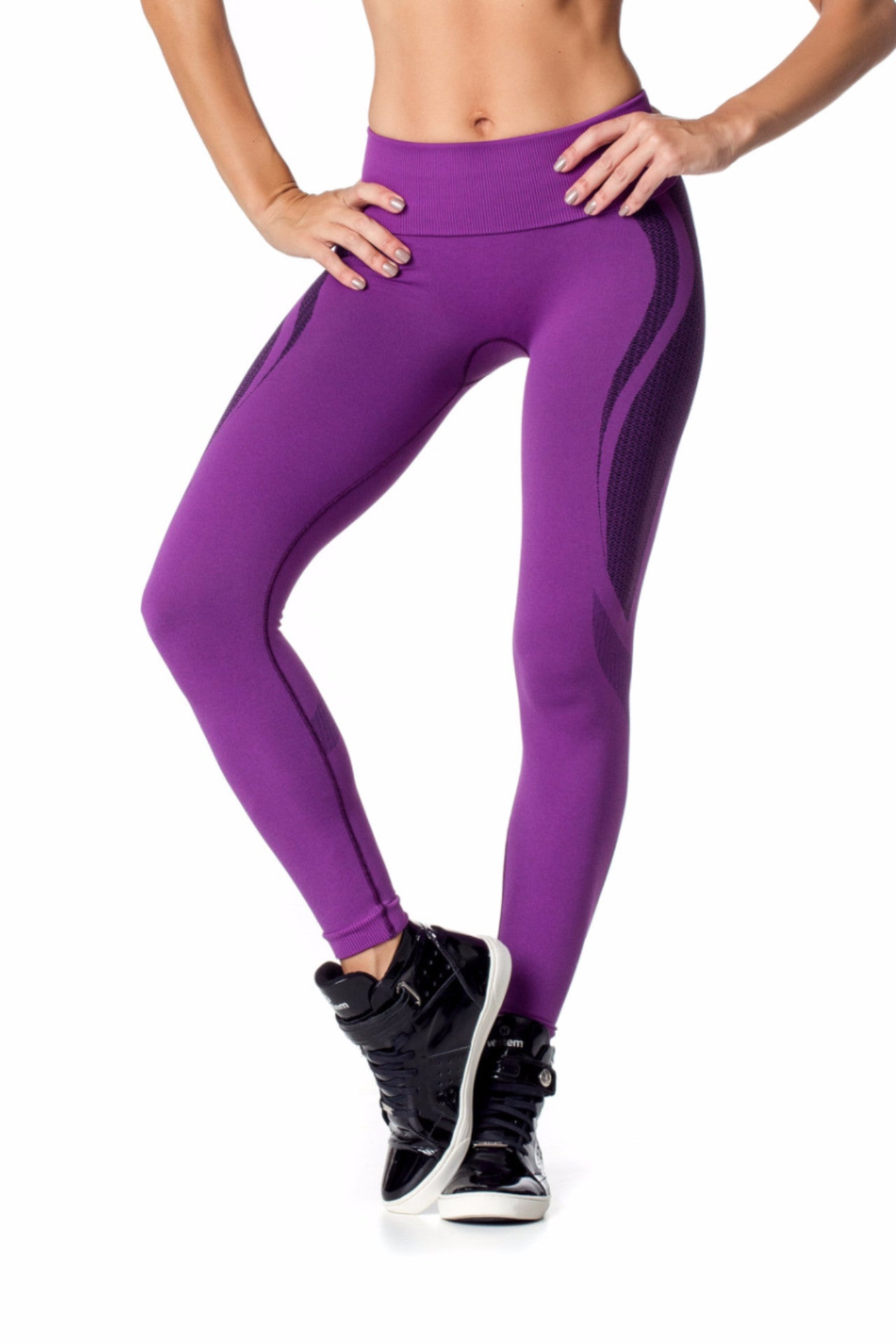 Purple Seamless Leggings-IpanemaGirl