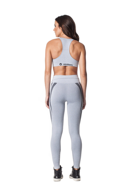 Grey Seamless Sports Bra