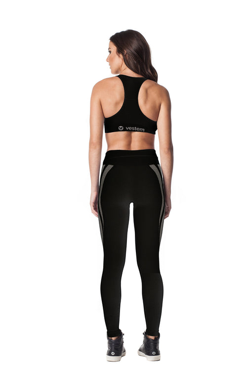 Black Seamless Sports Bra