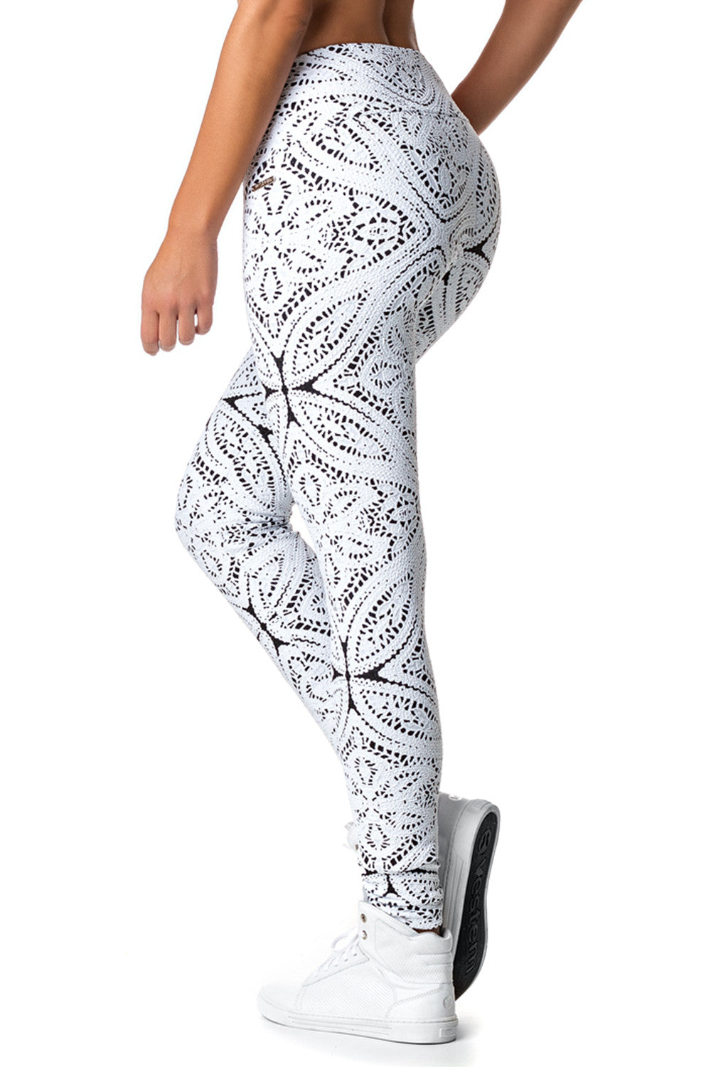 White Flowers Leggings