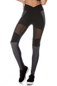 Black Polka Dot Leggings-IpanemaGirl