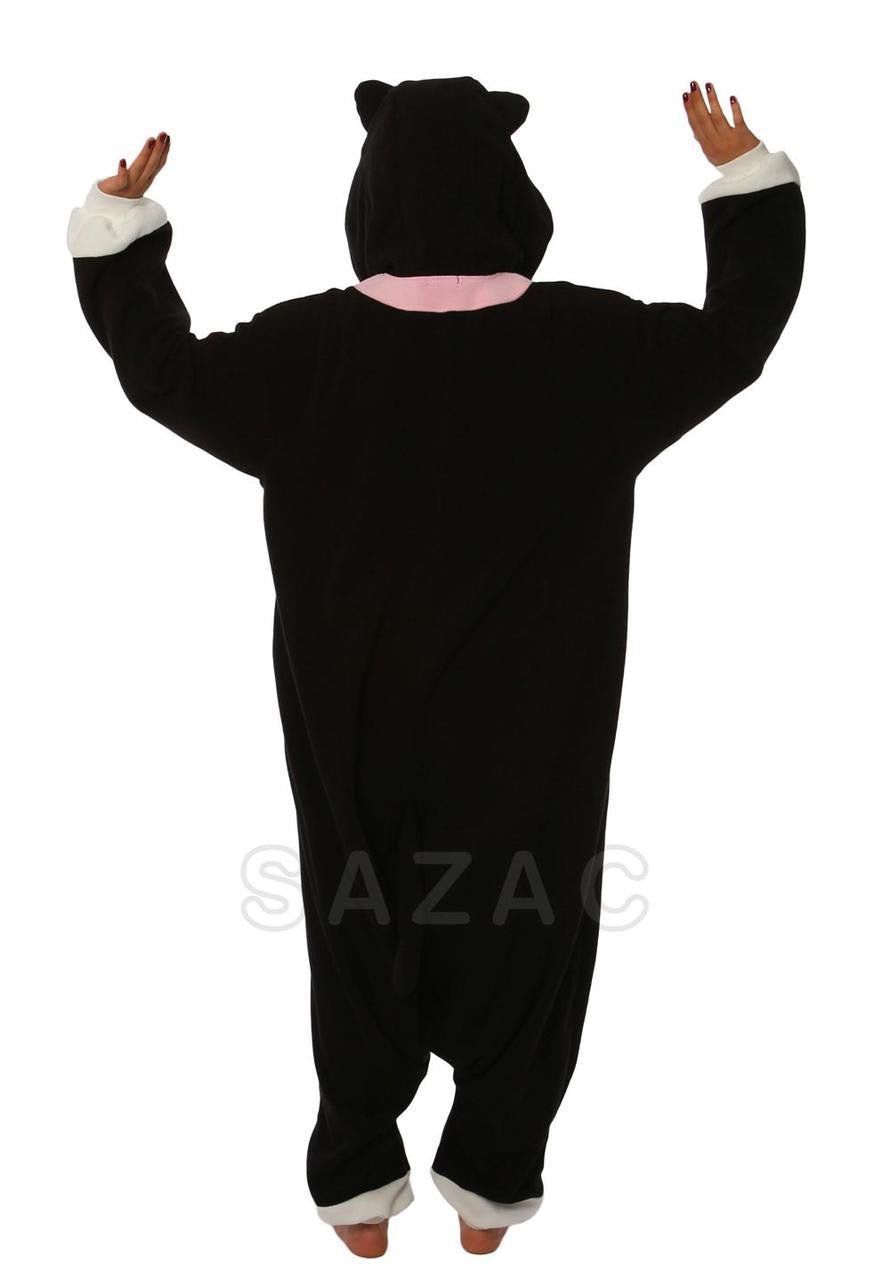 Black Cat Kigurumi Adult Onesie