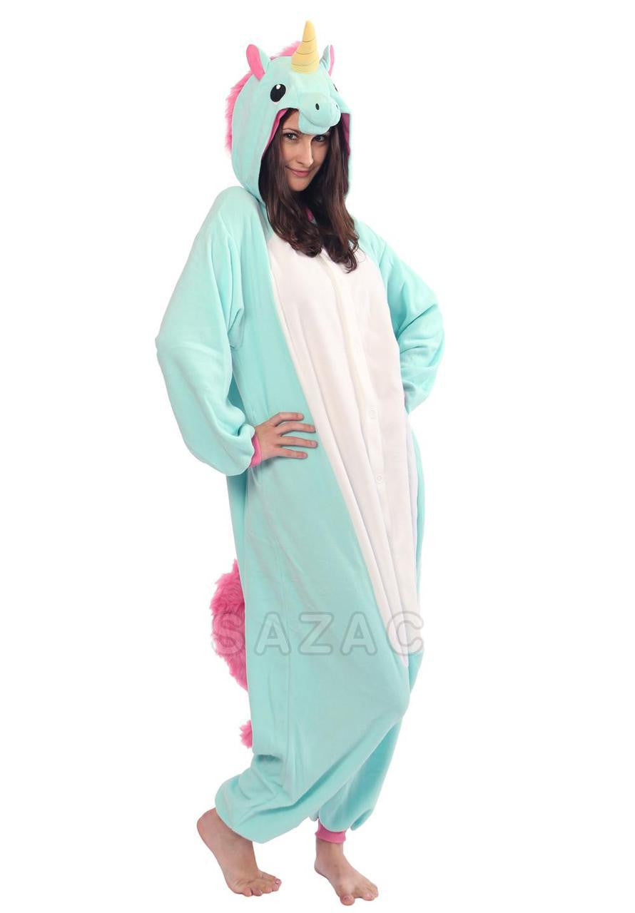 Blue Unicorn Kigurumi Adult Onesie