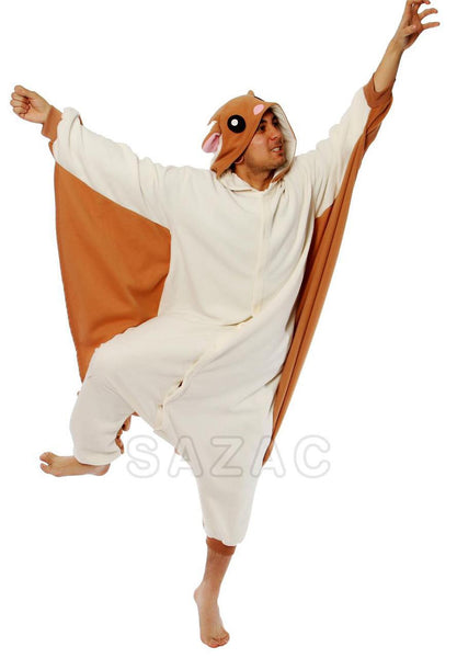 187203e8be Flying Squirrel Kigurumi Adult Onesie