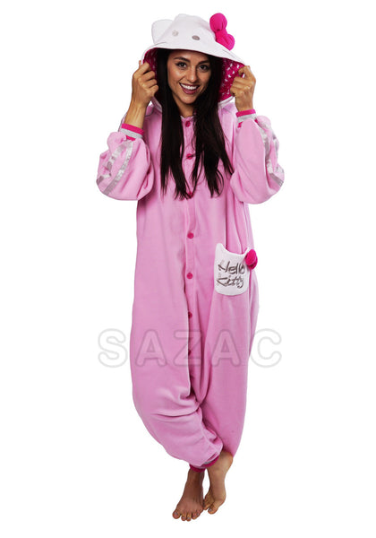 7be749ca9b Hello Kitty Kigurumi Adult Onesie