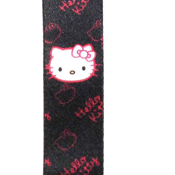 Hello Kitty Lanyard Black Iconic Version
