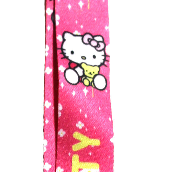 Hello Kitty Lanyard Pink Stars Version