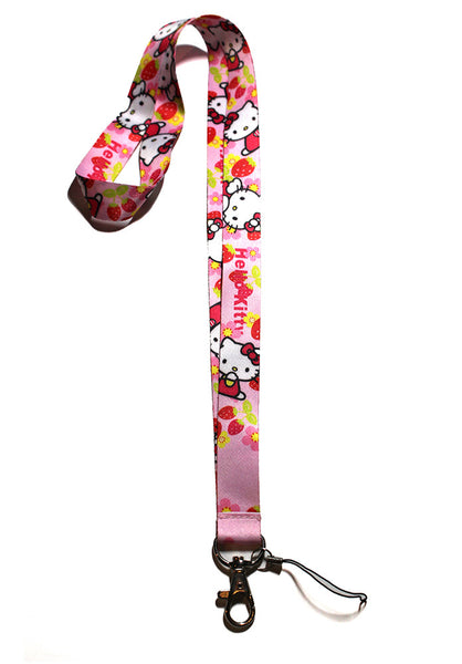 Hello Kitty Lanyard Pink Strawberry Version