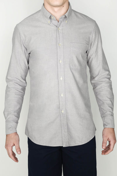M's Lightweight Oxford Shirt (Gray)